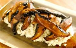 Marinated Mushrooms and Mashed Rosemary Cauliflower by Susan Powers