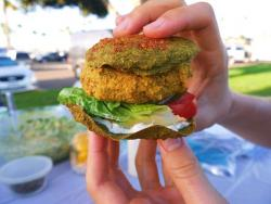 Raw Vegan Veggie Burger