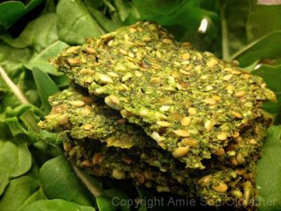 Arugula and Sunflower Seed Crackers