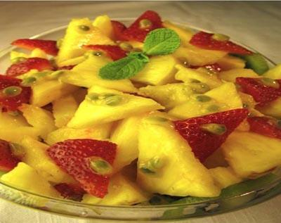 Raw Pineapple Passion Fruit Salad by Justin and Heidi Ohlander