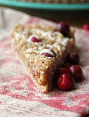 Raw Cranberry Walnut Tart