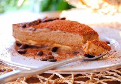 Raw Mocha Mousse Cake