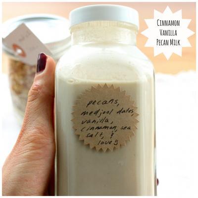 Vanilla Cinnamon Pecan Milk