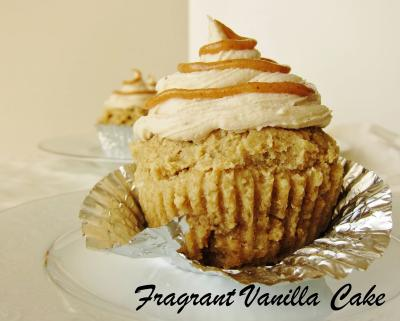 Raw Coconut Tres Leches Caramel Cupcakes