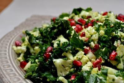 Winter Kale and Cauliflower Salad