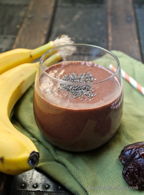 Raw Banana and Cacao Breakfast Smoothie
