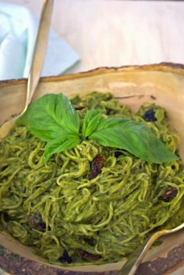 Avocado and Herb Pesto with Zoodles