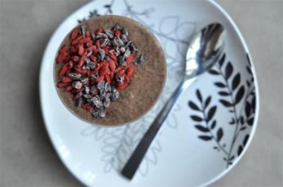 Chocolate Chia Protein Pudding by Callie England