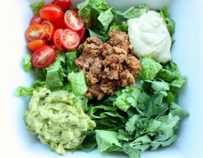 Raw, Vegan Taco Salad (gluten free)