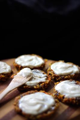 Carrot Cake Cookies and Lemon Cream Frosting