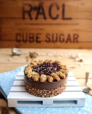 Raw Nut Free Chocolate Bliss Cake