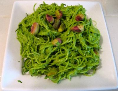 Pesto Pasta over Zucchini or Kelp Noodles by Elaine Love