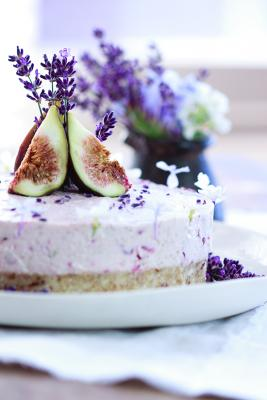 Raw Fig, Cherry, Lavender and Honey Cake