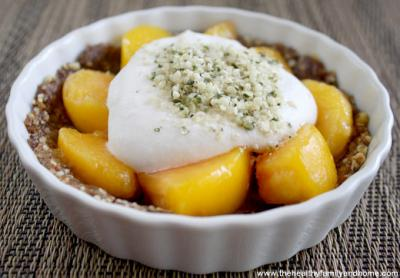 Raw Peach Tart