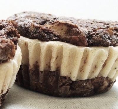 Peanut Butter Cookie Banana Ice Cream Sandwiches