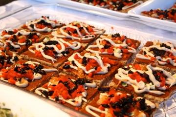 Pepper-Olive Pizza with Raw Almond Crust by Elaine Love