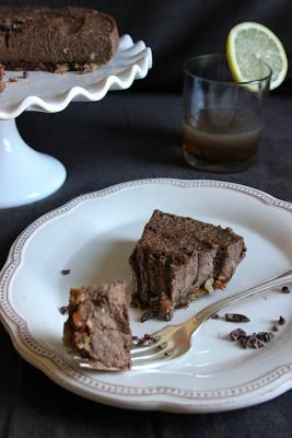 Raw Amaretto Chocolate Cream Cake