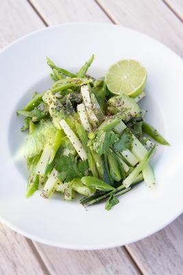 Green Bean Cucumber and Mint Salad