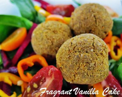 Raw Pumpkin Seed Falafels with Pumpkin Seed Dip