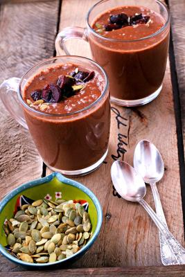 Creamy Chocolate Pumpkin Seed Smoothie