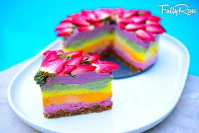 FullyRaw Rainbow Cake