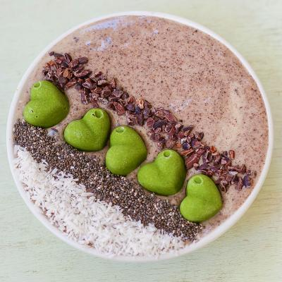 Chocolate Smoothie topped with Superfood