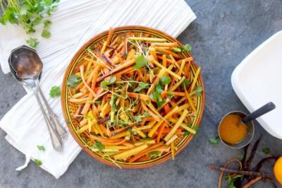 MoRAWccan Carrot Salad with Cinnamon Dressing