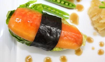 Papaya Sushi by Diana Stobo