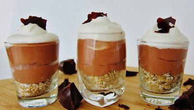 Vegan French Silk Pie Shooters
