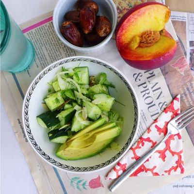 Cucumber and Fennel Salad with Avocado