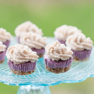Acai Mini Cheesecakes