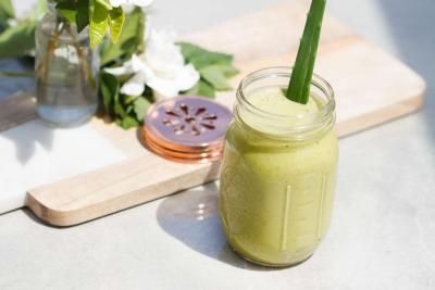 Matcha Mint and Aloe Smoothie