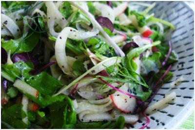 Micro Green, Apple, and Fennel Salad by Natalia