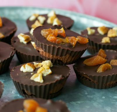 Chocolate Apricot Truffle Chocolate Cups