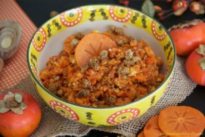 Pumpkin Pie Persimmon Breakfast Bowl