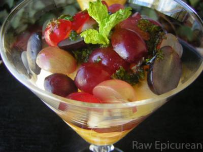Apple and Grape Parfait with Mint Infused Orange Juice by Ingrid Weithers-Barati