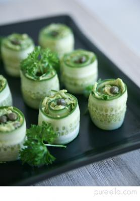 Cucumber Rolls with Creamy Avocado