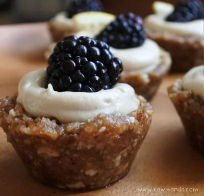 No-Bake Blackberry Lemon Tarts