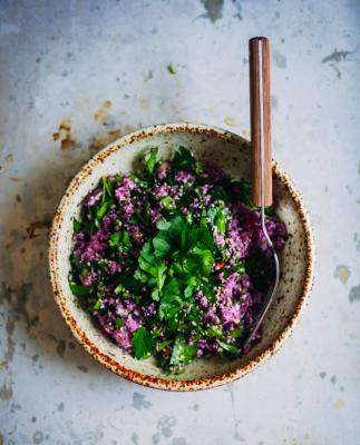 Purple Cauliflower Tabbouleh
