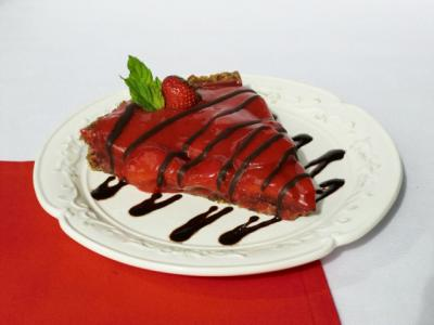 Chocolate Strawberry Tart by Carla Aguas
