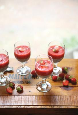 Summery Strawberry Chia Pudding