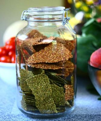 Summer Italian Flax Cracker