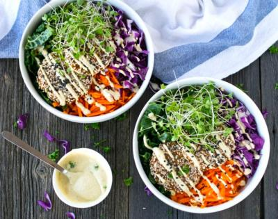 Raw Vegan Falafel Buddha Bowl