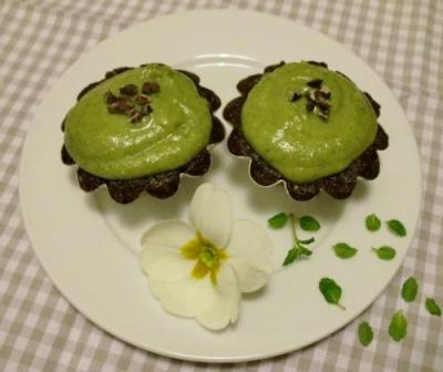 Mint Chocolate Chip Cupcakes by Carla Aguas