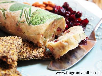 Vegan Rosemary Sage Cranberry Chevre