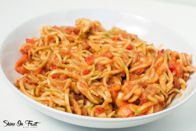 Raw Spaghetti with Marinara