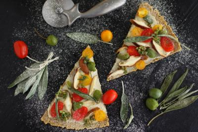 Raw Rutabaga and Crispy Sage Pizza