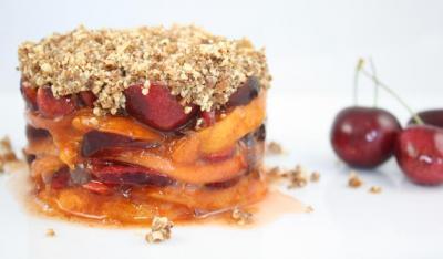 Cherry Apricot Crisp by Diana Stobo