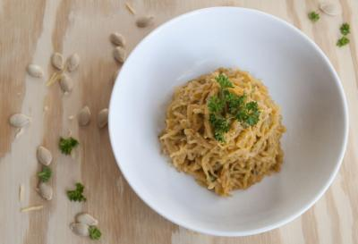 Tomatini Spaghetti Squash Pasta by Callie England
