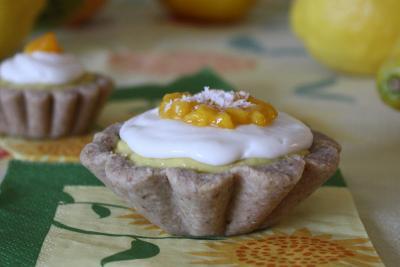 Nut Free Mango Mousse Tarts with Coconut Cream